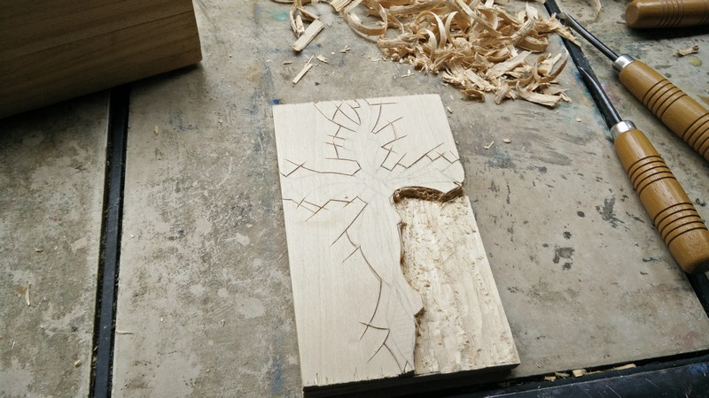 Birch is softer to carve
